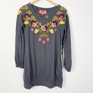 Johnny Was JWLA Embroidered Tunic Dress size Small